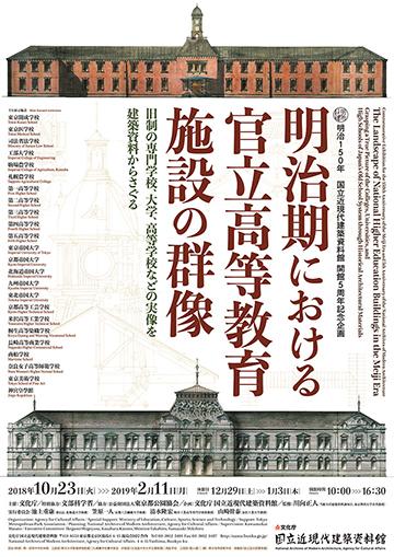 明治期における官立高等教育施設の群像